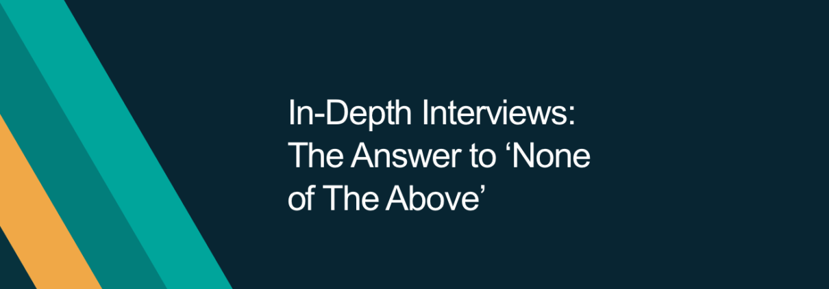 Why we love in-depth interviews for B2B market research.