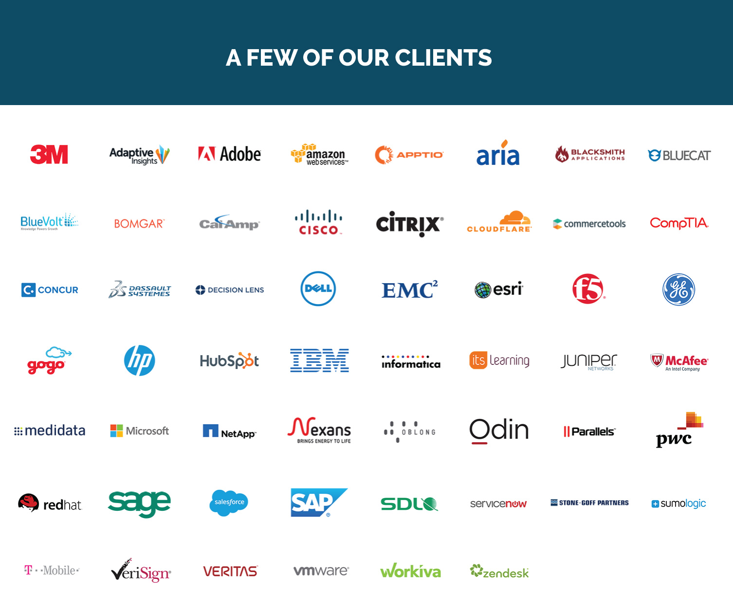 A Few of our Clients Cascade Insights