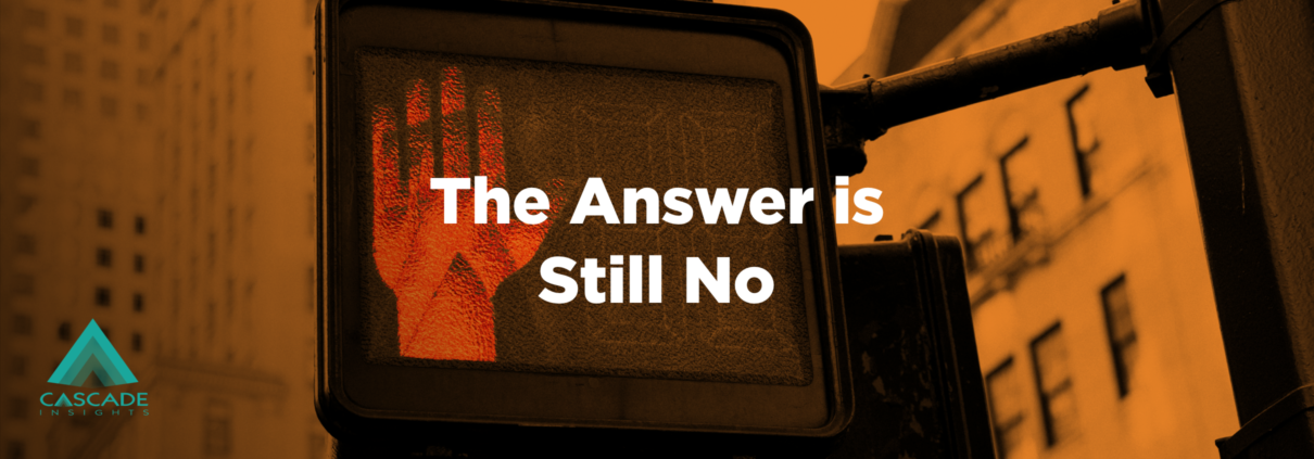 The Answer Is Still No | Key Account Management
